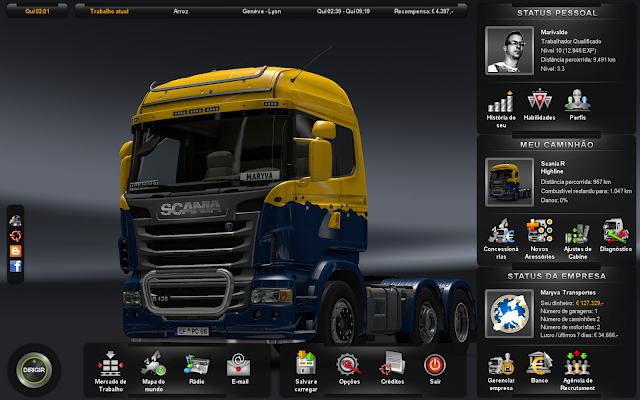 Euro Truck Simulator 2 Plus Semua DLC Gameplay