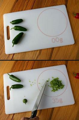 tabla para  picar chiles