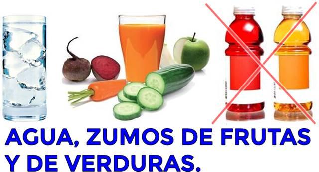 Tomar agua y zumos de frutas sin azúcar evita la obesidad en los niños