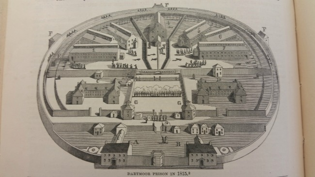 drawing-of-plan-of-Dartmoor-Prison-view-from-above