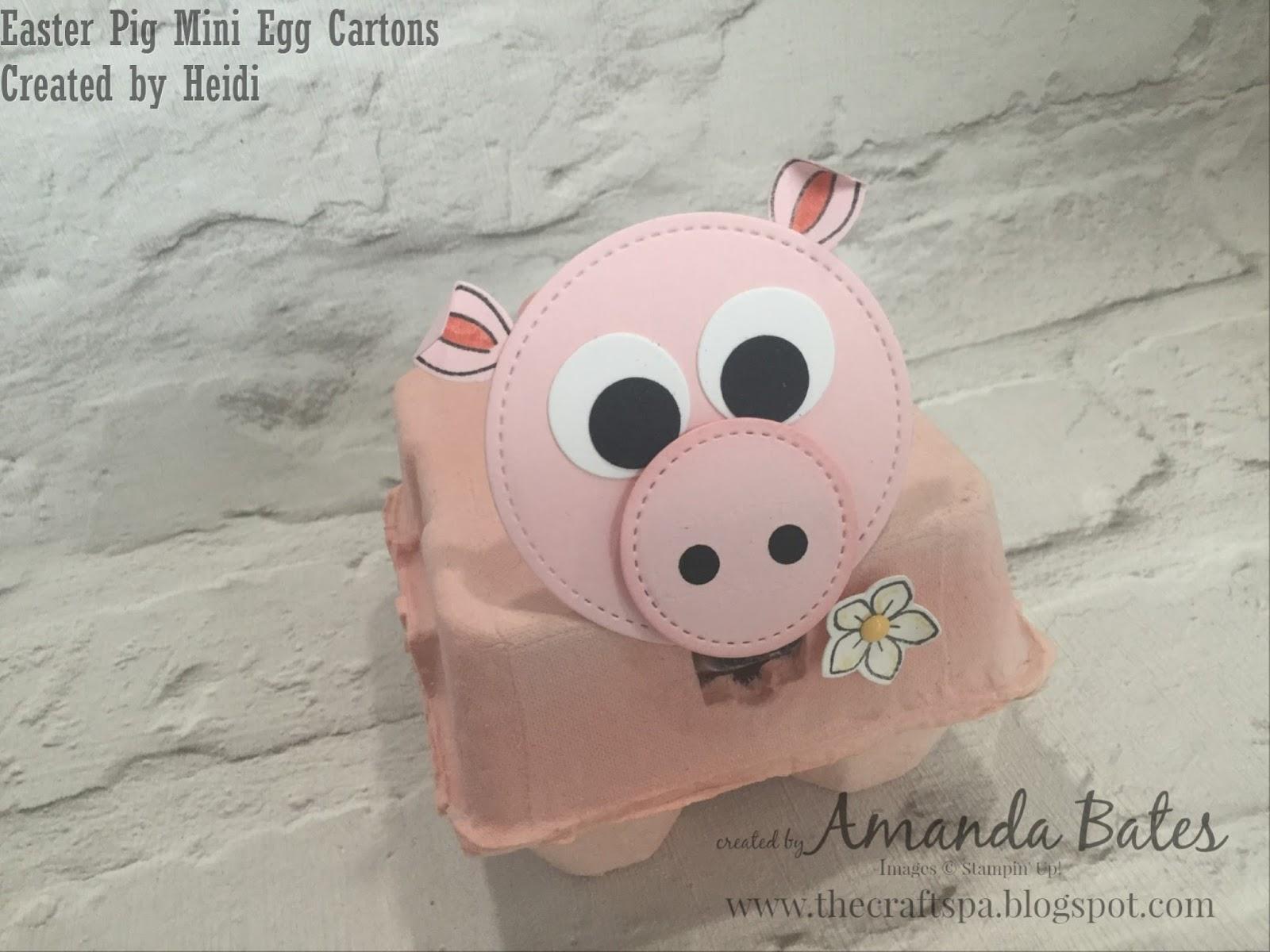 Mini Egg Carton Easter Pig The Craft