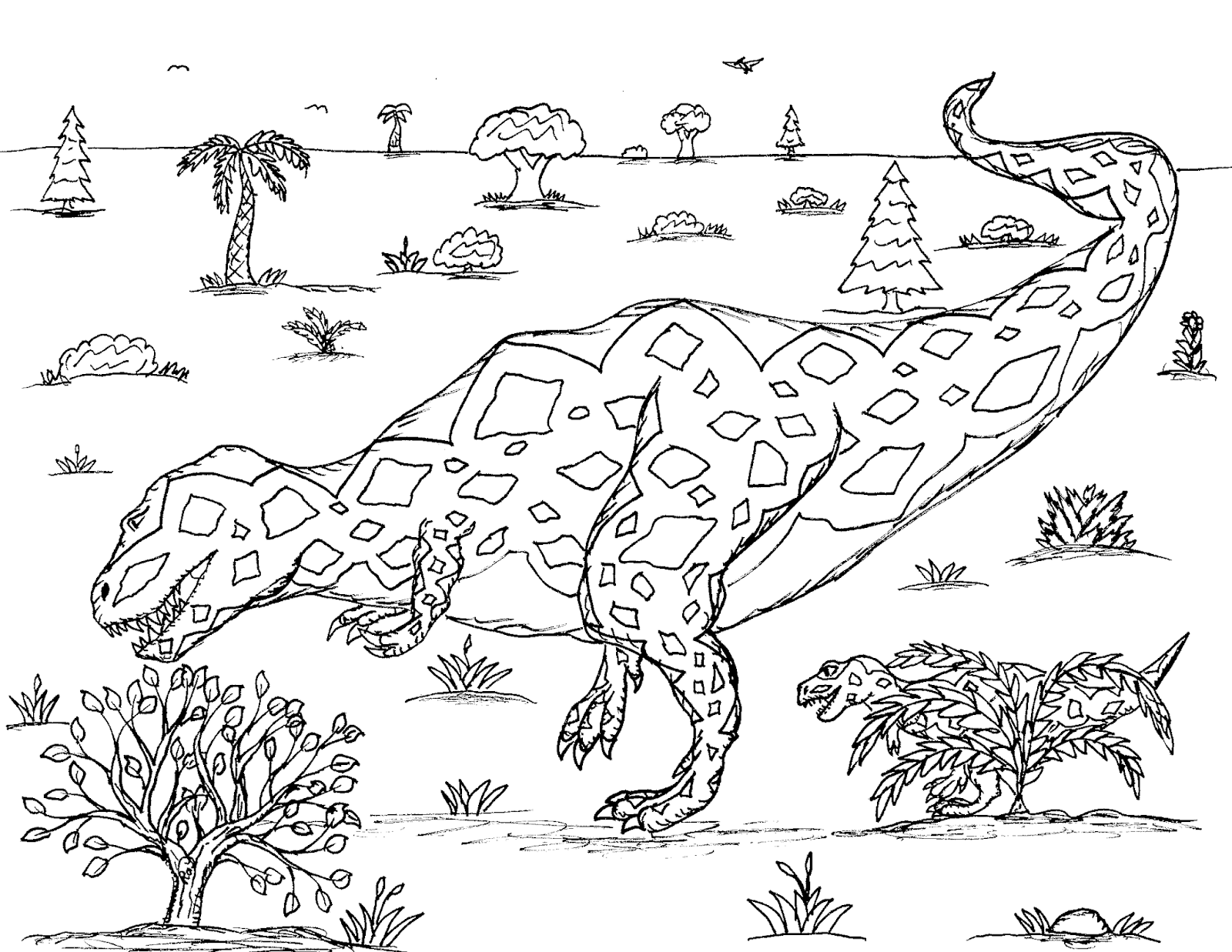 Robin S Great Coloring Pages Tyrannosaurus Rex Mothers