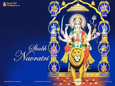 Navratri Wishes Wallpaper in Hindi