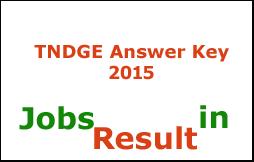 TNDGE Answer Key 2015