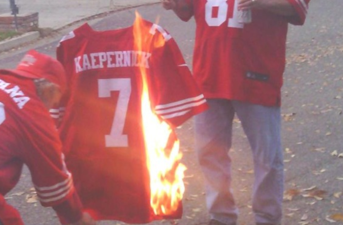 6aed0487412 Kentucky Sports Bar Holding NFL Merchandise-Burning Party (VIDEO)