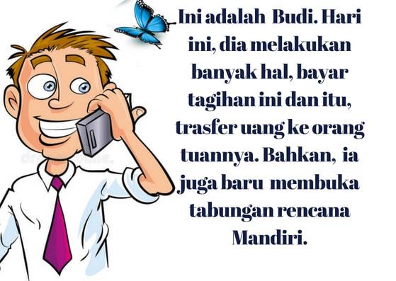 Ilustrasi 2 Nasabah Bank Mandiri yang menggunakan mandiri online
