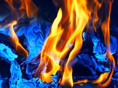 dommages causés par le feu aux maisons