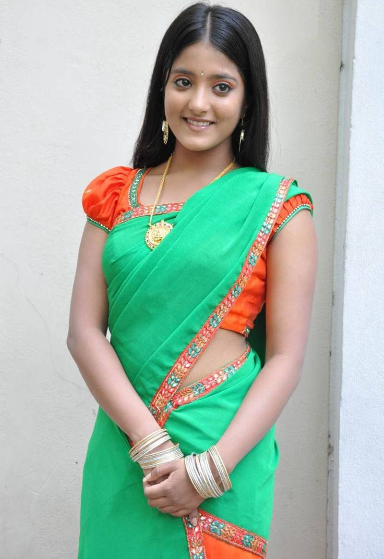Ulka Gupta Photos In Traditional Green Half Saree