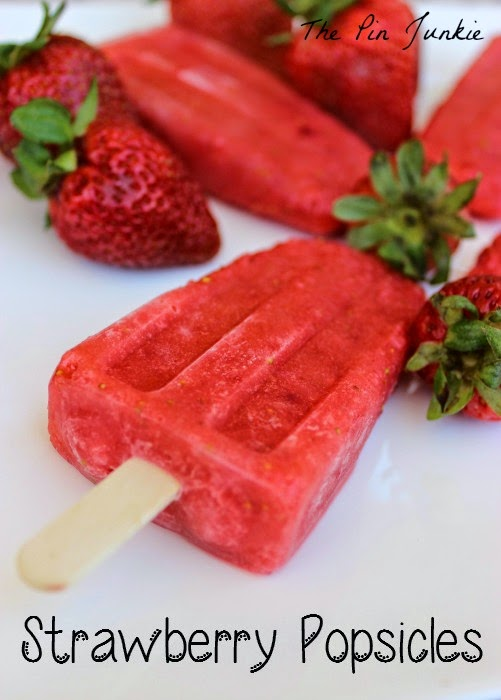 strawberry popsicles homemade recipe