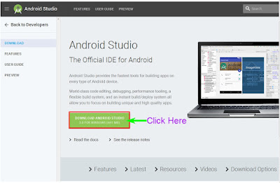 Android Studio. Apps development Software