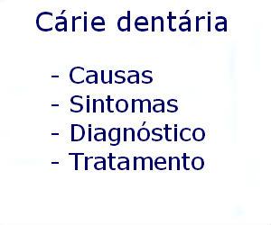 Cárie dentária causas sintomas diagnóstico tratamento prevenção riscos complicações