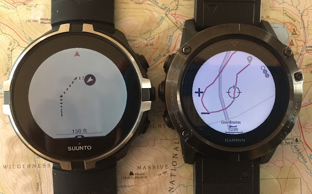 Road Trail Run Comparative Review Garmin Fenix 5x With Topo 24k