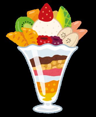 フルーツパフェのイラスト