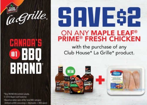 Maple Leaf Prime Chicken + Club House La Grille Coupon