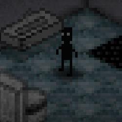 Point-and-click de terror e escape pixelizado com puzzles. Esse pobre homem parece estar preso em uma prisão muito escura e terrivelmente misteriosa.