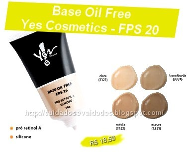 BASE OIL FREE YES COSMETICS