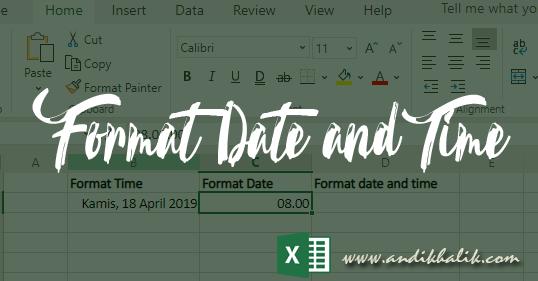 Cara Menggunakan fungsi Date and Time untuk Memformat Tanggal dan Waktu pada Cells Excel