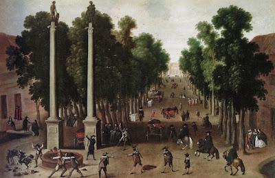 Vista de la Alameda de Hércules (1650) - Anónimo - Colección Abelló