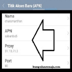 Seting APN untuk smartfren
