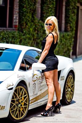 Cars Amp Girls Blonde Flanks Lamborghini Lp560 Tt Sport Cars