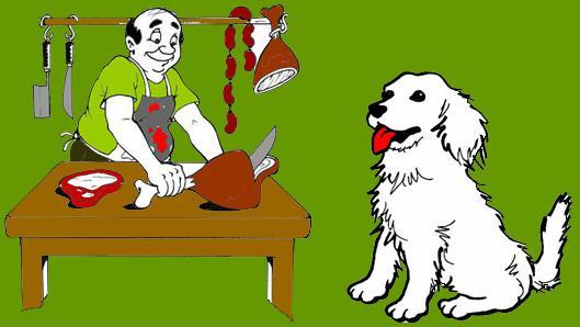el perro y el carnicero