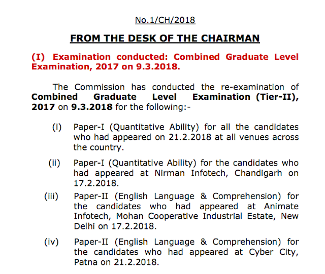 SSC Chairman Notice dated 10 March 2018