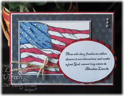 Our Daily Bread Designs, God Bless America, American Flag Single