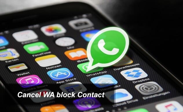 Membatalkan blokir kontak WA