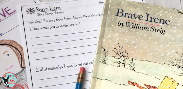 Brave irene by William Steig is a great winter read aloud that focuses on character traits and motivations. Be sure to grab the free activity!