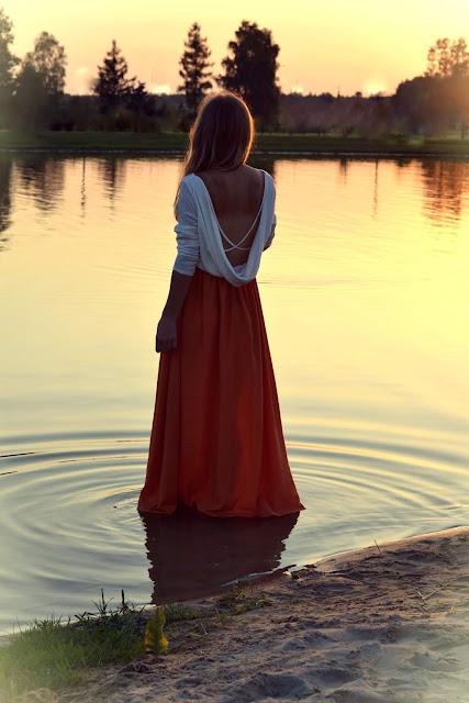 393. Sukienka maxi i zachód słońca. ♥ #zaful