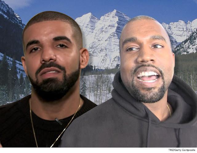Drake And Kanye Together Working On Collaboration Track For Kanye's Next Album.