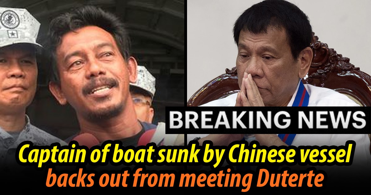 BREAKING: Captain of sunken boat backs out of meeting with Duterte last minute