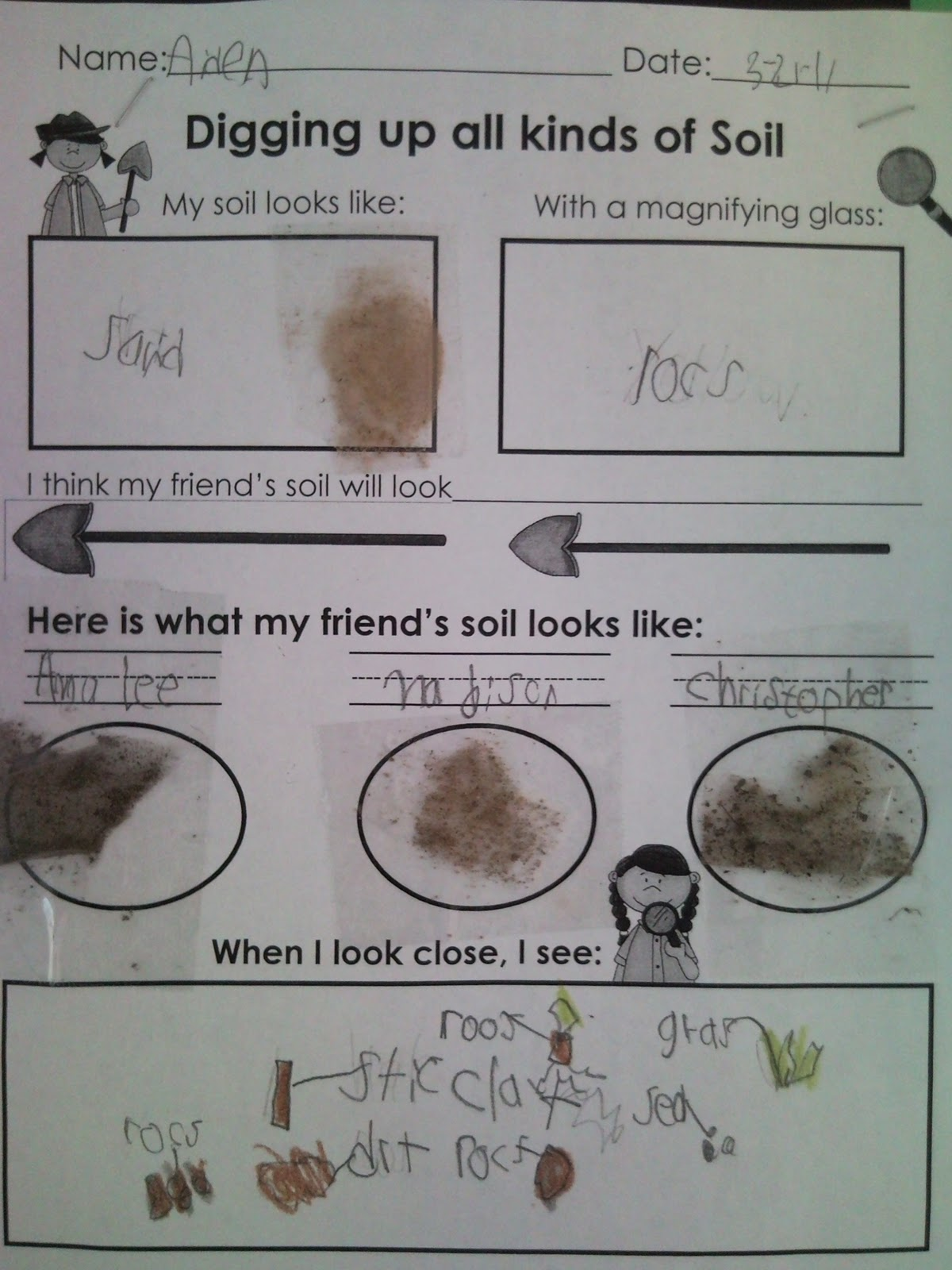 First Grade Fabulous Fish Soil Explorations