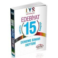 Editör LYS Edebiyat Tamamı Çözümlü 15 Deneme Sınavı