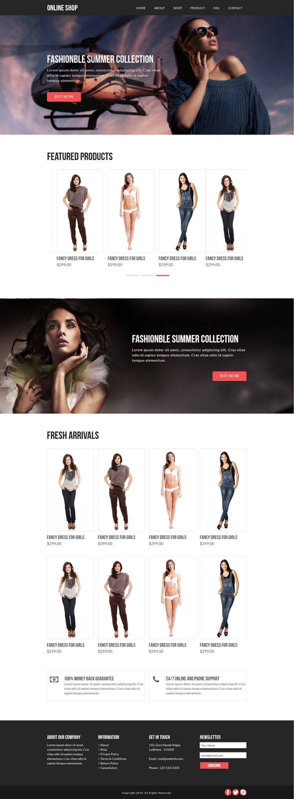 eCommerce Muse Template