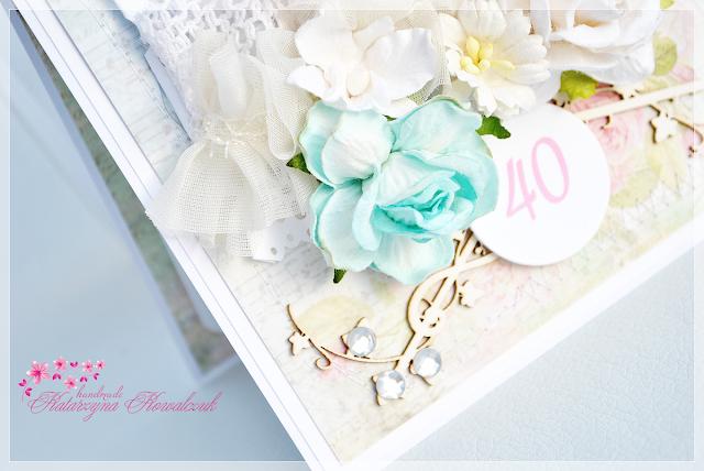 kwiatowa kartka na 40 urodziny