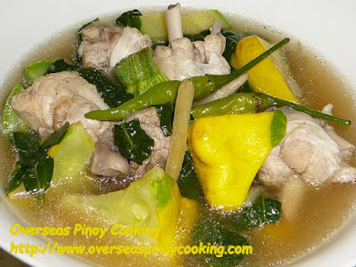 Chicken Tinola with Gold Squash