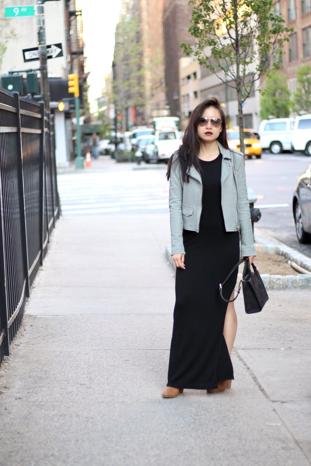 IRO jacket LNA maxi dress