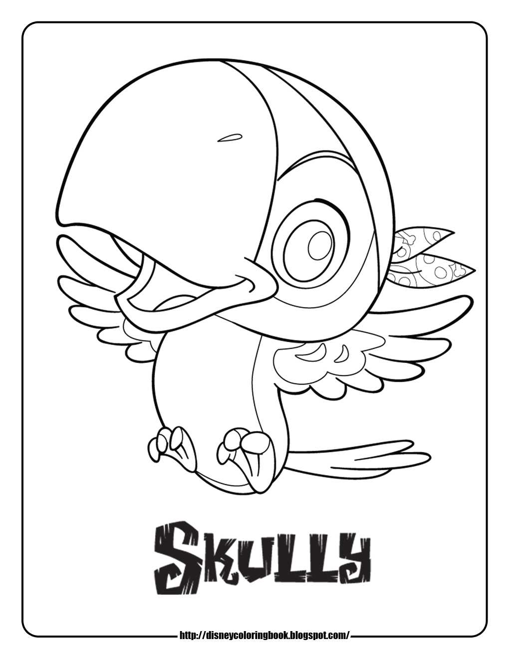 Jake And The Neverland Pirates Skully Coloring Pages