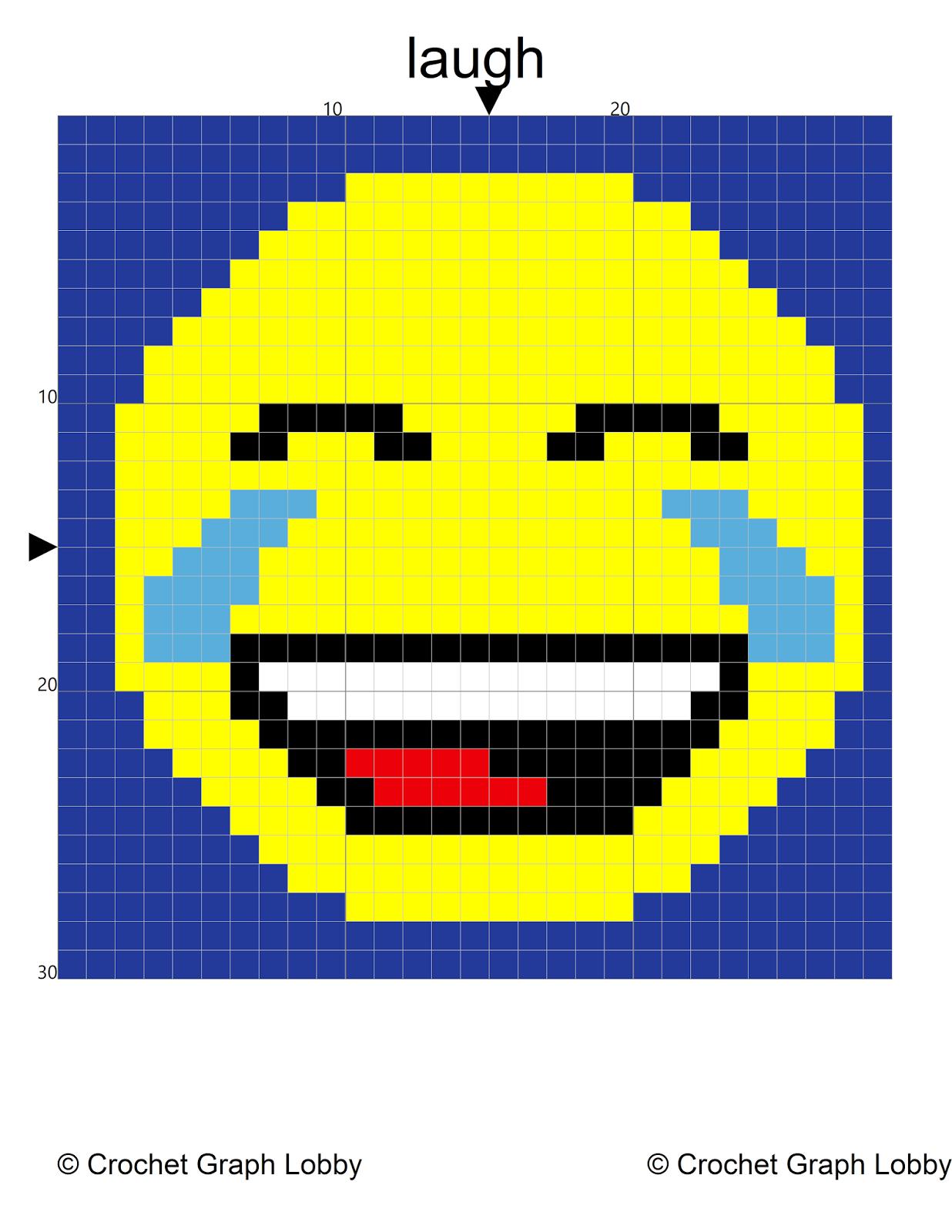 4elli: Block Stitch Graphing Technique: Emoji Pillows