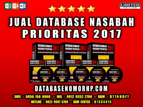 Jual Database Nasabah Prioritas 2017