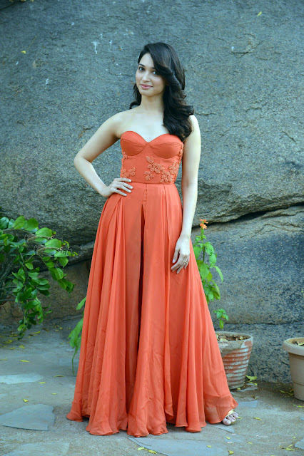 Tamannaah Bhatia in Sailex Orange Gown