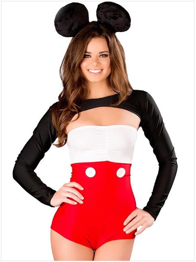 3 pcs Halloween Womenu0027s Sexy Playboy Mickey Mouse Cosplay Uniform Costume  sc 1 st  Fabulous And Style-Fashion Blog & 3 pcs Halloween Womenu0027s Sexy Playboy Mickey Mouse Cosplay Uniform ...