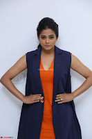 Priyamani in Beautiful Short Deep neck Orange Dress ~  Exclusive 50.JPG