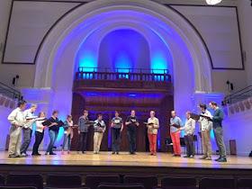 Vox Luminis rehearsing at the Cadogan Hall