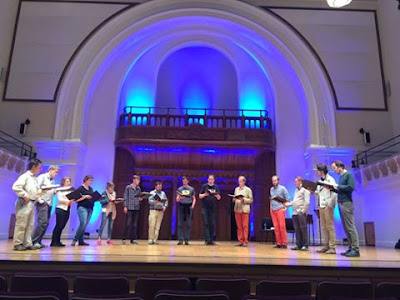 Vox Luminis rehearsing at the Cadogan Hall