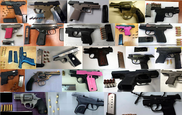 Discovered 63 firearms