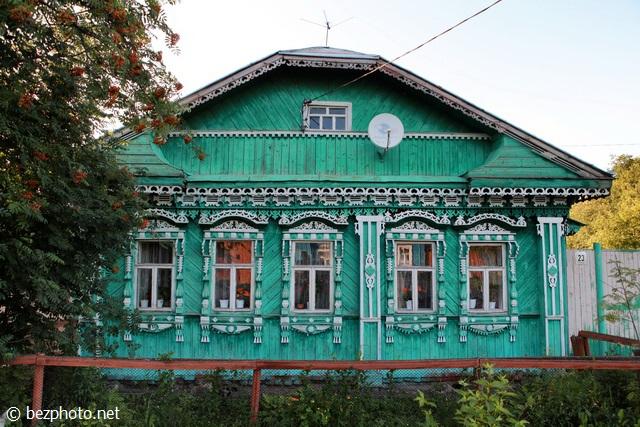 деревянные дома суздаля