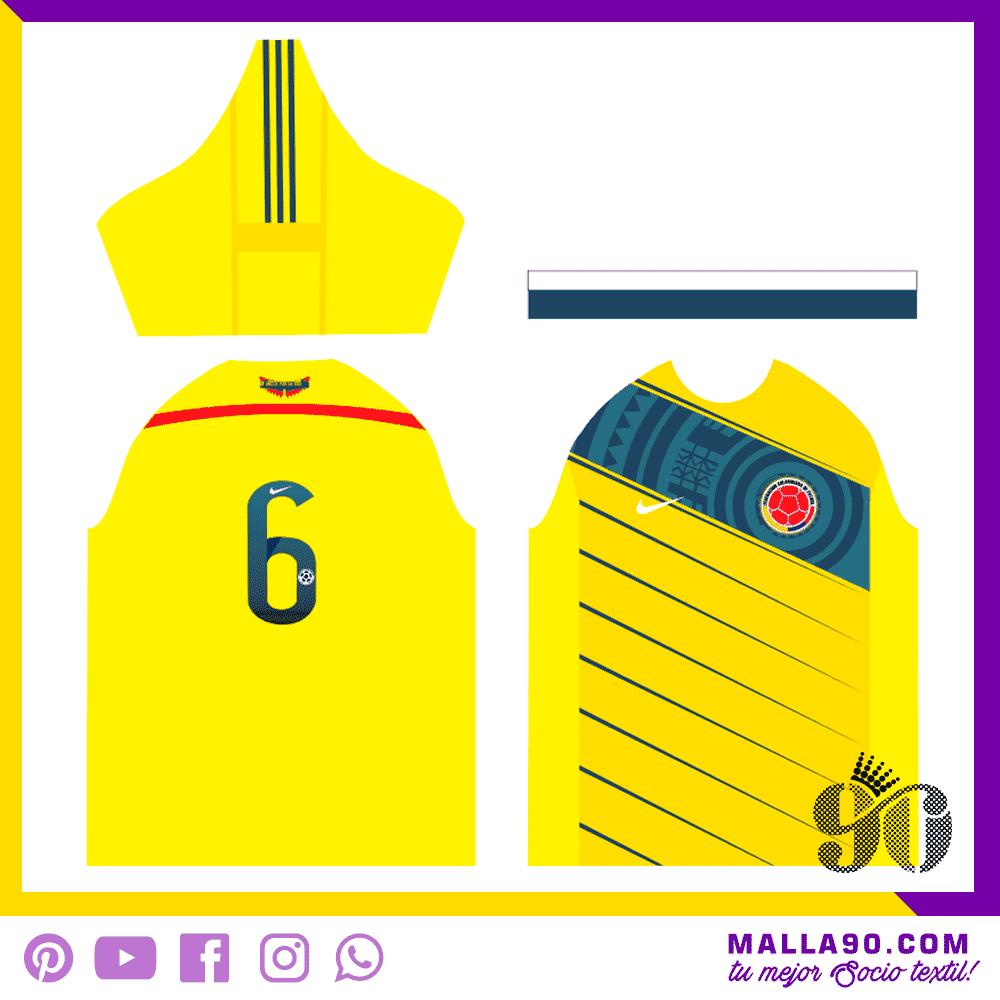 Diseno de Camiseta de Colombia