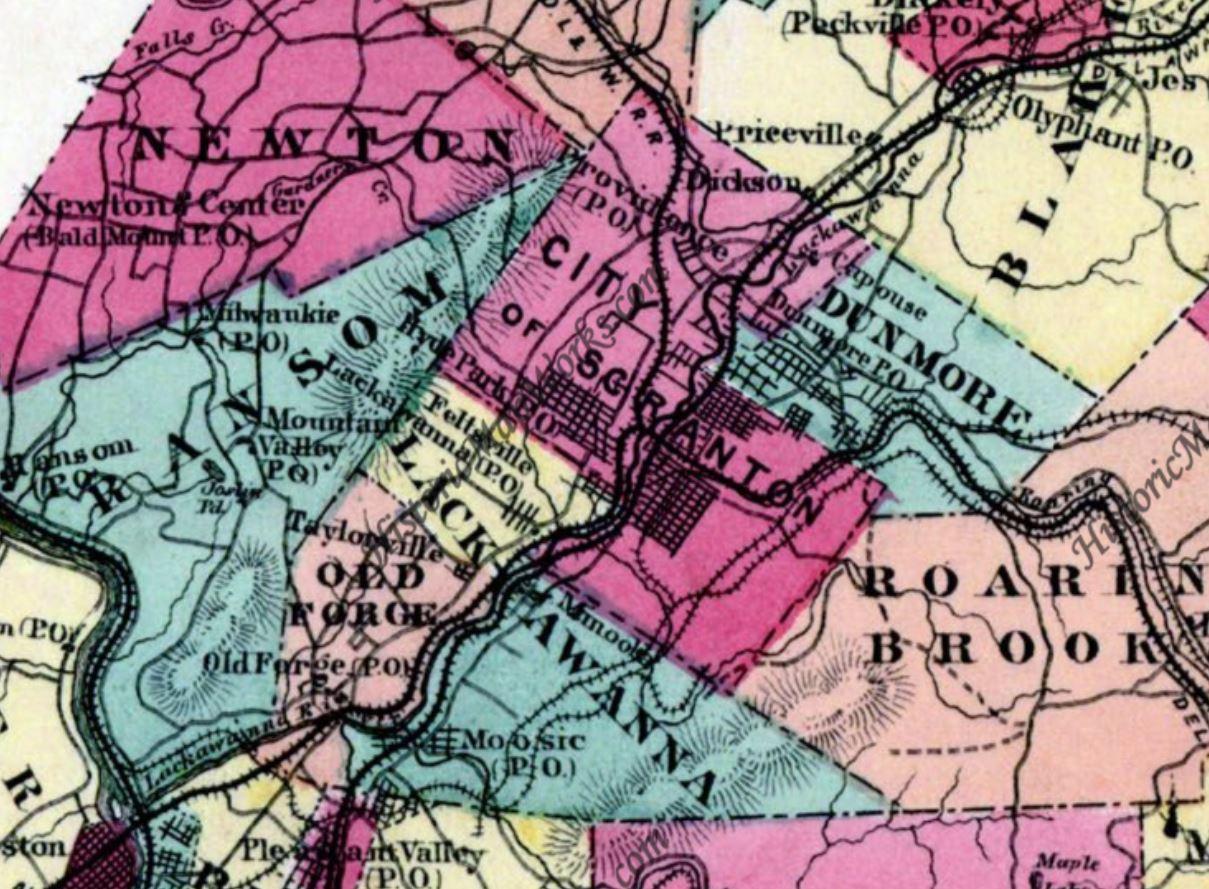 a part of Lackawanna County Pennsylvania